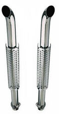 "Truck Exhaust Stacks 3.00"" Dia X 50"" Long 3.00"" Flanged Inlet Chrome Plated W300"