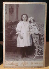 a 1890 cabinet card photograph victorian girl w porcelain china doll New Jersey