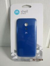 Motorola Color Clip-On Shell Hülle Schale Case Cover für Moto G Smartphone BLAU