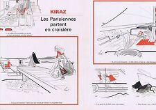 PUBLICITE ADVERTISING 114 1977 KIRAZ les Parisiennes partent en croisière  2 pge