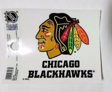 "Chicago Blackhawks 3"" x 4"" Small Static Cling - Truck Car Window Decal NEW NHL"