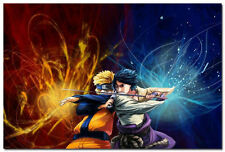 Naruto Shippuden Naruto VS Sasuke Anime Game Art Silk Poster Decor 24x36inch