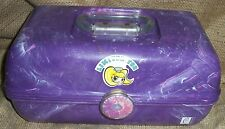 Caboodles Purple Marbled Large Make Up Storage Case 2622 W/ Mirror