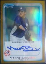 2011 Bowman Chrome Gold Ref Refractor Manny Banuelos Rc Auto # 07/50