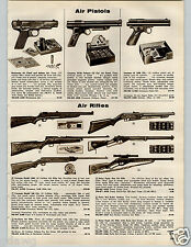 1957 PAPER AD Rifle Pistol Air Crosman Marksman Daisy Hy-Score Eagle Red Ryder