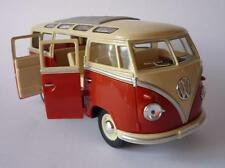 VW Camper Van Bus 17cm 1/24 Scale Toy Model Orange Cream Boys Girl Boxed Present