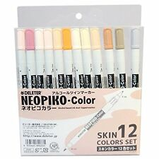DELETER alcohol marker Neopiko color skin 12color set Manga Anime Drawing Japan