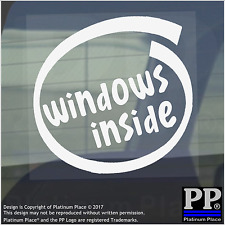 1 X dentro de Windows-ventana, Coche, Furgoneta, Calcomanía, signo, vehículo, de 7,8,10, procesador, Cortana