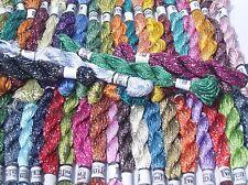 Bordado de hilos de seda de 50 madejas de brillo, 50 colores diferentes, Mejor Calidad