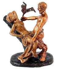 Erotische Wiener Bronze - Liebestoller Faun / Satyr - 2-teilig - Bergmann