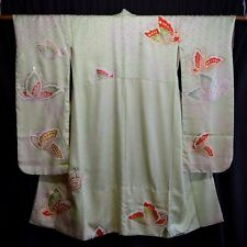 """Butterfly Whimsy"" Vintage Japanese Woman's Furisode Kimono Robe"