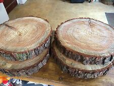 "4 Rustic logs approx 12"" for wedding decoration, table decor, wooden cake stands"