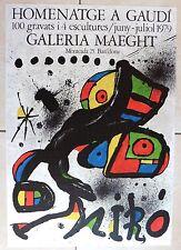MIRO JOAN HOMENATGE à GAUDI 1979 BARCELONA GALERIA MAEGHT AFFICHE LITHOGRAPHIQUE