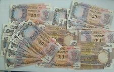 India - 50rs - F6 - Manmohan singh - used notes