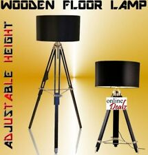 WOODEN FLOOR LAMP TRIPOD Adjustable Timber Table Lamp MODERN RETRO PHOTOGRAPHERS