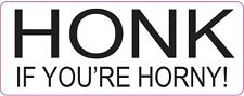 [ 180x70mm ] HONK IF YOU'RE HORNY - Funny Car Stickers - Joke - Decal