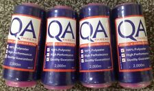 QA 2000m Overlocker Thread 4 x Purple -100% Polyester, Superior Quality