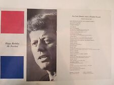Happy Birthday Mr. President Kennedy Marilyn Monroe Official Original Program