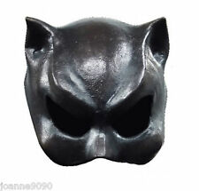 Halloween Black Catwoman Batman Superhero Fancy Dress Latex Rubber Cat Girl Mask