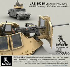 Live Resin 1/35 USMC MCTAGS Turret with M2 Browning .50 Calibre Machine Gun