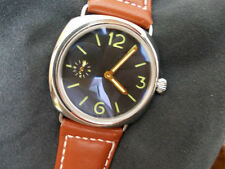 Panhom 45mm Polished Greenish Mark Handwind Parnis 6497 Watch M radi militare