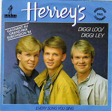 HERREY'S DIGGI LOO/DIGGI LEY EUROVISION 84 /EVERY SONG YOU SING FRENCH 45 SINGLE