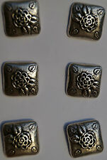 no. 13 Costume Buttons Amerikan Silver Rose 25 mm Traditional for Jeans jacket