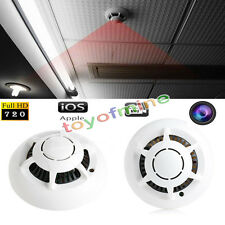 UFO Style IP Spy Camera Wifi Wireless Cam Smoke Detector Hidden Mini Camcorder