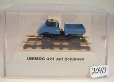 Brekina 1/87 39077 Mercedes Benz Unimog 421 auf Schienen OVP ohne Umkarton #2040