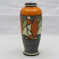 UNUSUAL CLARICE CLIFF ART DECO VASE c1930'S SHAPE 186 WINSOME PATTERN? 14.5 CM H