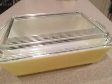 VINTAGE PYREX 33 Rectangle Casserole Dish with lid