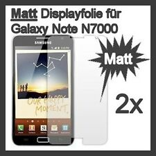 2x Schutzfolie für Samsung Galaxy Note N7000 Anti Glare MATT 2 Stück Screenguard