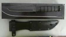 KA-BAR KNIFE 1254 SHORT KABAR BLACK TANTO LEATHER NEW IN BOX USA MADE!!