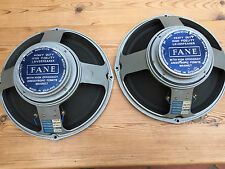 "Rather nice pair FANE (make Tannoy also) 12"" full range speakers, 15 ohm, PA etc"