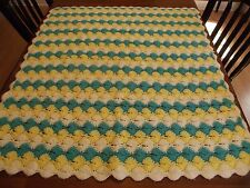 "Vintage Afghan GRANNY Handmade Crochet Quilt Throw Blanket 46""x41""  UNIQUE"