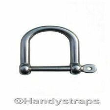 6mm Wide Dee Shackles  Stainless Steel Marine