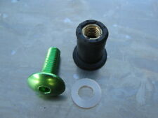 Screen Bolt Kit, green anodised alu, 4 bolts, for Kawasaki Z 1000, 2003 onwards