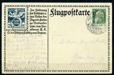 """Bayern: Flugpostkarte SFP 2 gestempelt SST """"Nürnberg Flugpost"""". Mi: 350,-"""