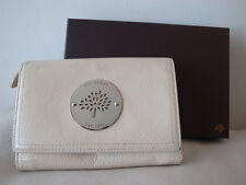 Mulberry Daria French Purse Wallet in Cream White Leather
