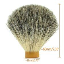 18*60mm Knot Pure Badger Hair Shaving Brush Head Men Shave Tool Barber Salon DIY