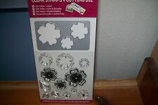 1 CLEAR STAMP & CUTTING DIE FLOWERS   14X8 CM  NEW