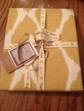 West Elm Pottery Barn Ikat Ogee Duvet Cover NWT Twin Horseradish Yellow