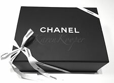 NEW CHANEL 12x9.25x4.75 MAGNETIC MEDIUM FLAP BAG HANDBAG RIBBON EMPTY GIFT BOX