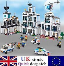 Mega Police Station Car Prison w/ Figures Compatible Building Bricks 1230Pcs UK