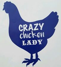 Crazy Chicken Lady Decal/Sticker  ***AVAILABLE 20 COLORS