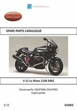 Moto Guzzi parts manual book 2002 V 11 Le Mans 1100