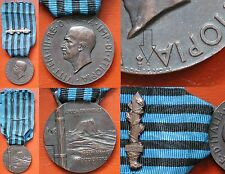 """ITALIAN FASCIST MEDAL COLONIAL WAR 1936 IN AFRICA ORIENTALE WITH GLADIO AOI  """"C"""""""
