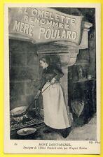 cpa 50 - MONT SAINT MICHEL Enseigne Affiche de L' HÔTEL POULARD ainé Omelette