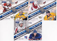 12-13 Certified Alex Ovechkin Michael Del Zotto /299 Path To The Cup Semifinals