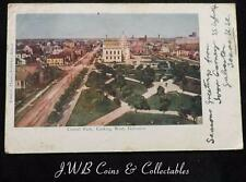 Old Postcard of Central Park, Looking West,Galveston, Texas